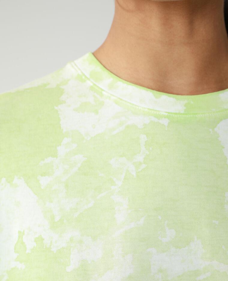 T-shirt oversize tie and dye vert - Pimkie