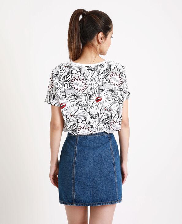 T-shirt imprimé BD blanc