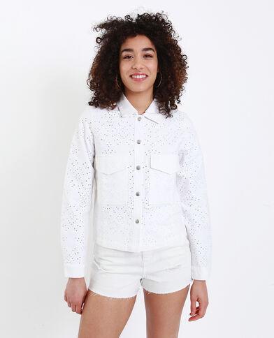 Veste perforée blanc