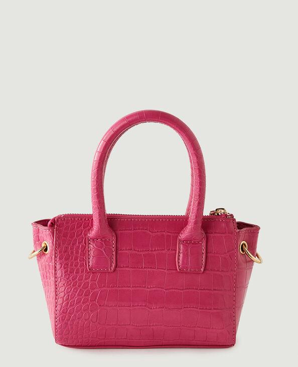 Petit sac à main croco rose - Pimkie