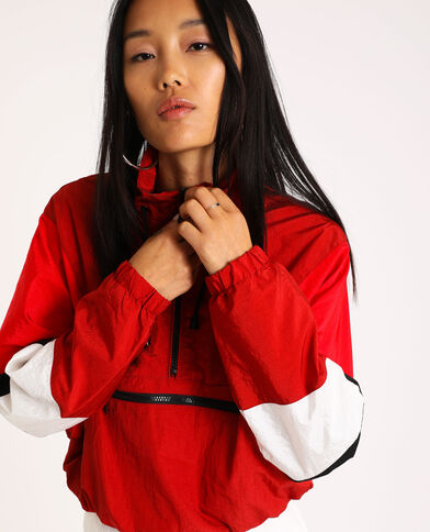 Veste colorblock rouge