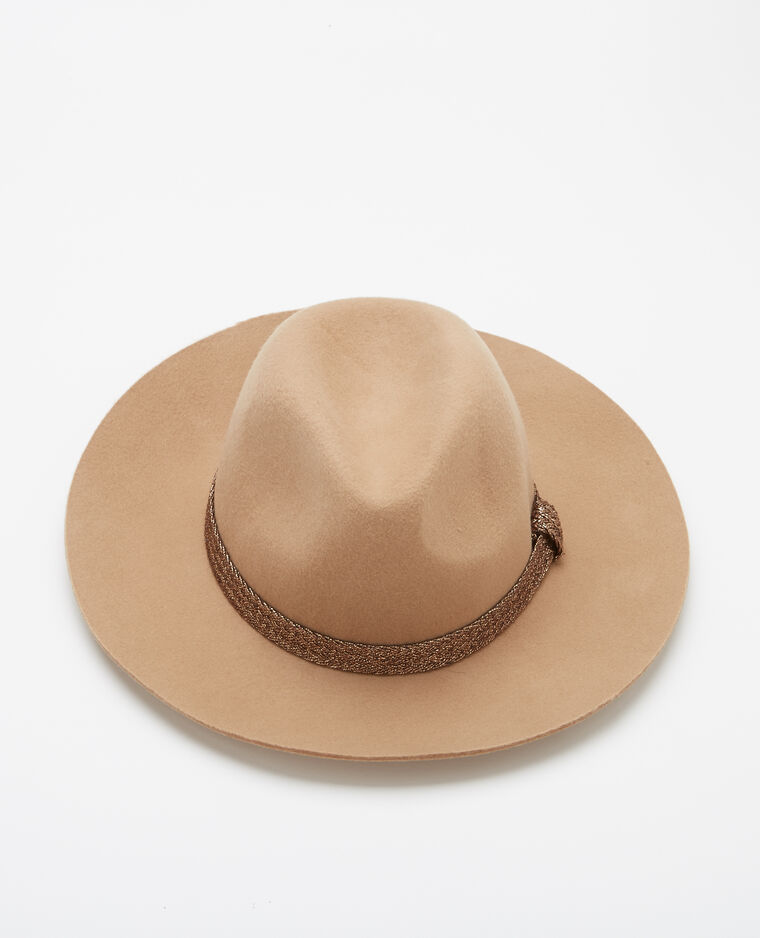 Chapeau fedora caramel