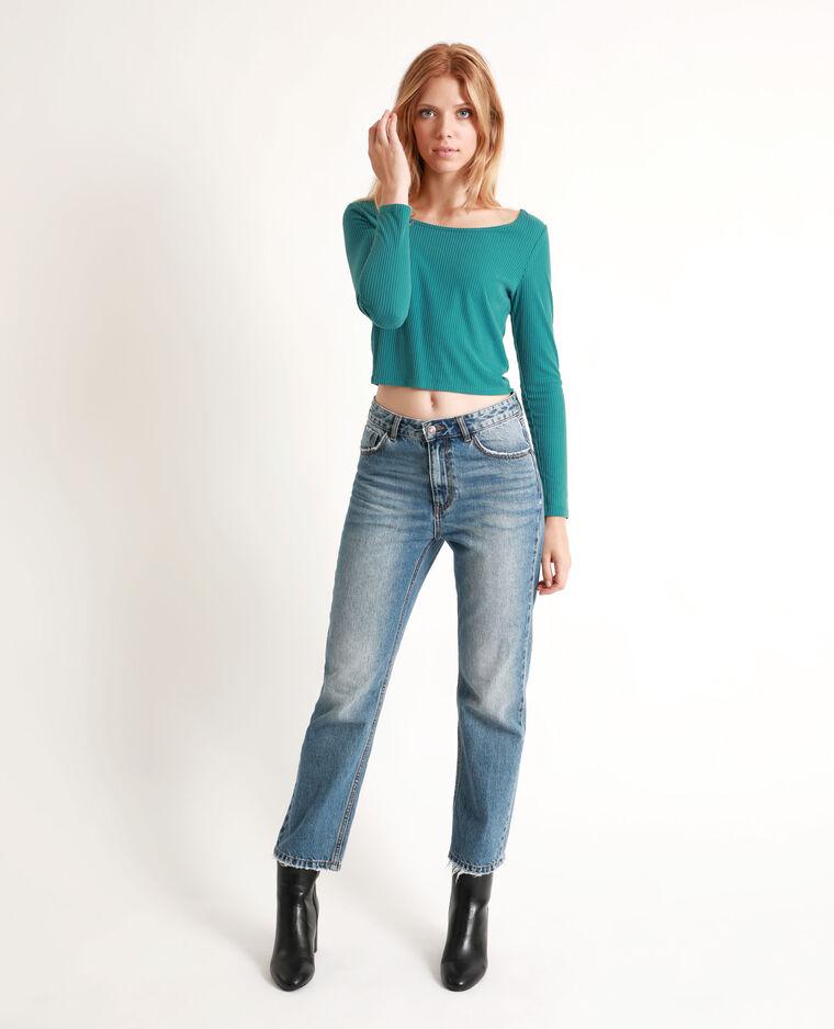 T-shirt court bleu-vert