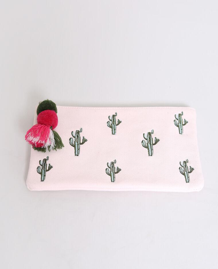 Pochette cactus rose