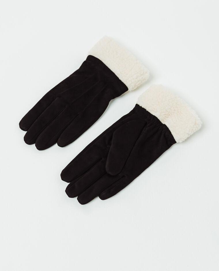 Gants bimatère noir