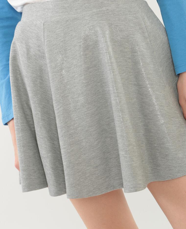ef0fd04b41057 Jupe corolle courte gris argenté - 690352898A0G   Pimkie