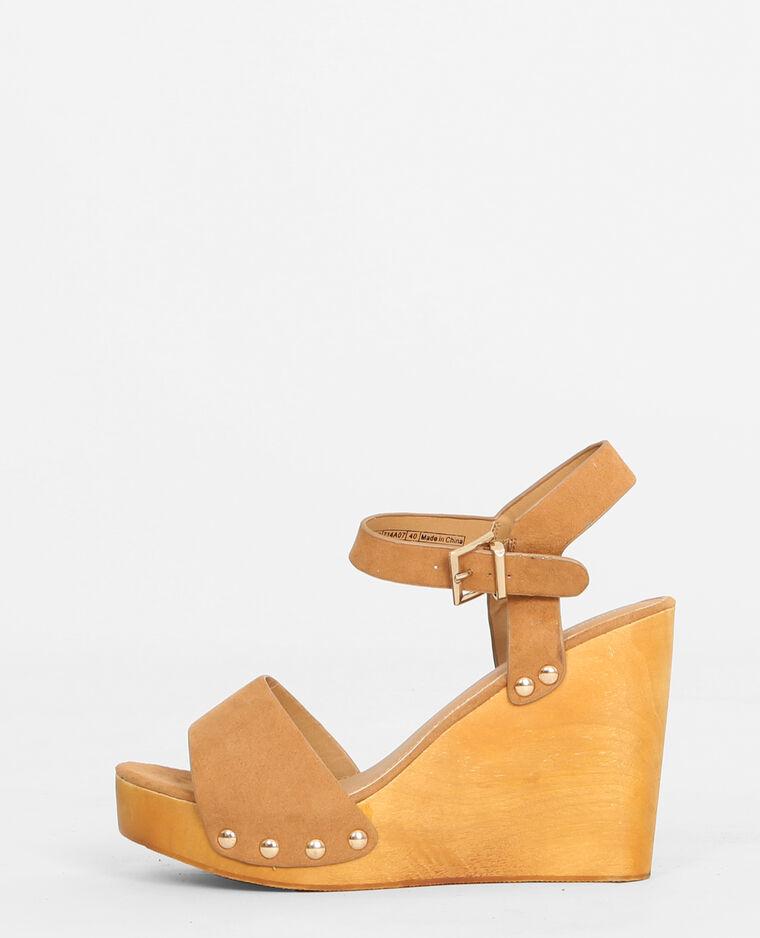 19b8d2b527c2 Sandales compensées bois beige ficelle - 988088714A07