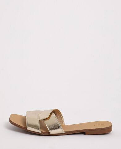 Sandales plates doré - Pimkie
