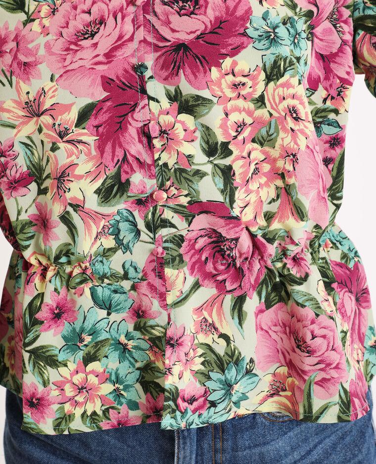 Top à fleurs violet - Pimkie