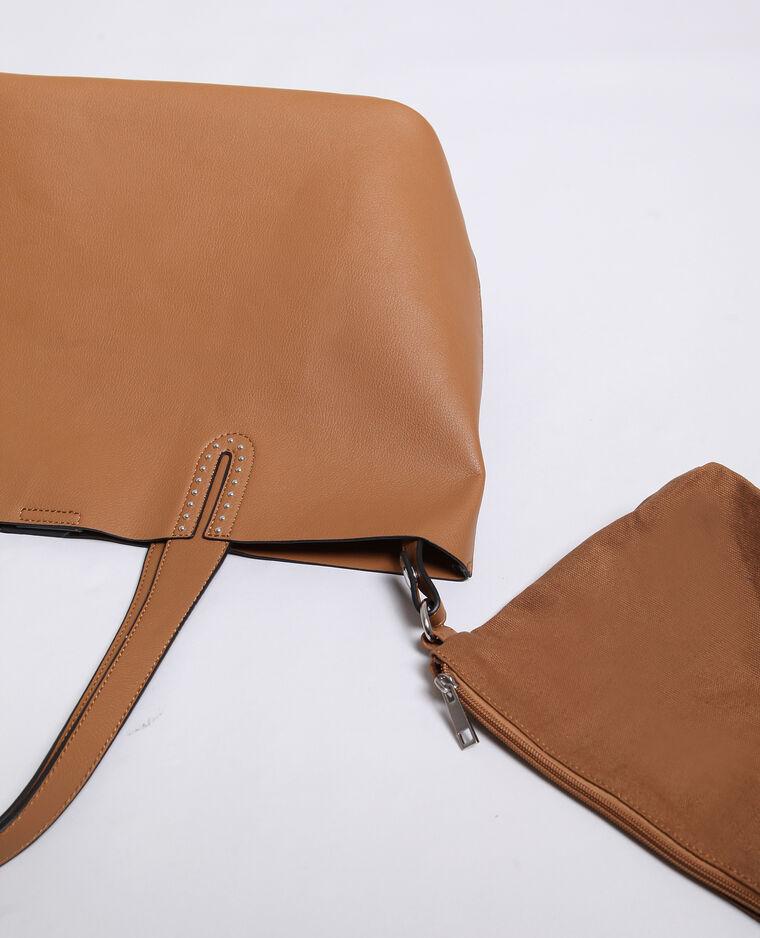 Grand sac souple marron