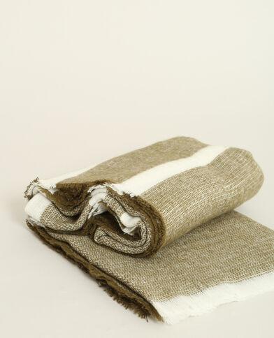 Echarpe à rayures kaki