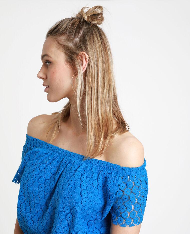 T-shirt brodé bleu