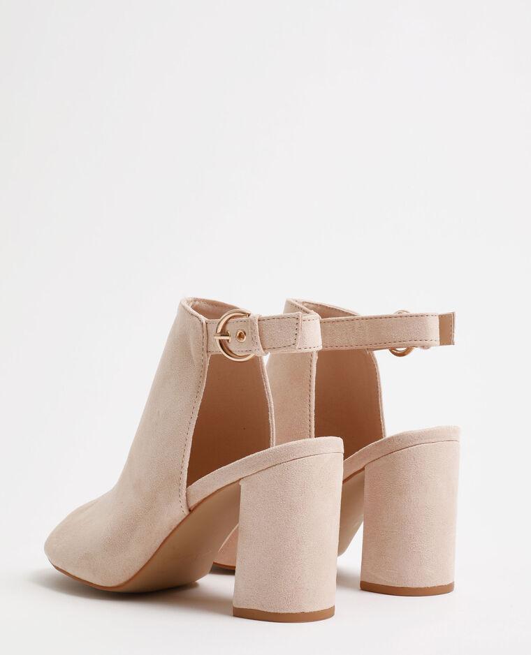 Sandales ouvertes rose poudré