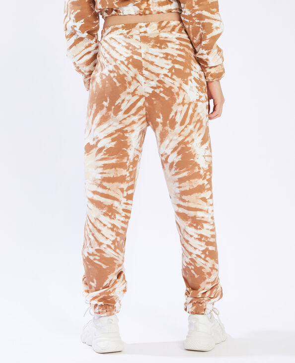 Jogging effet tie and dye marron - Pimkie