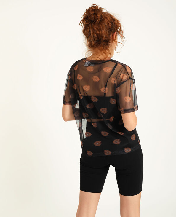 T-shirt transparent noir - Pimkie