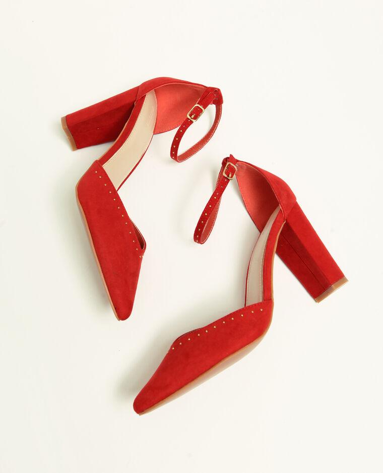 Escarpins à clous rouge