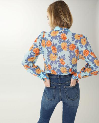 Chemise à fleurs noir - Pimkie
