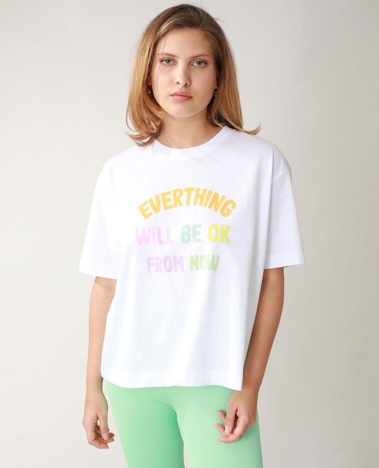 T-shirt oversize blanc - Pimkie