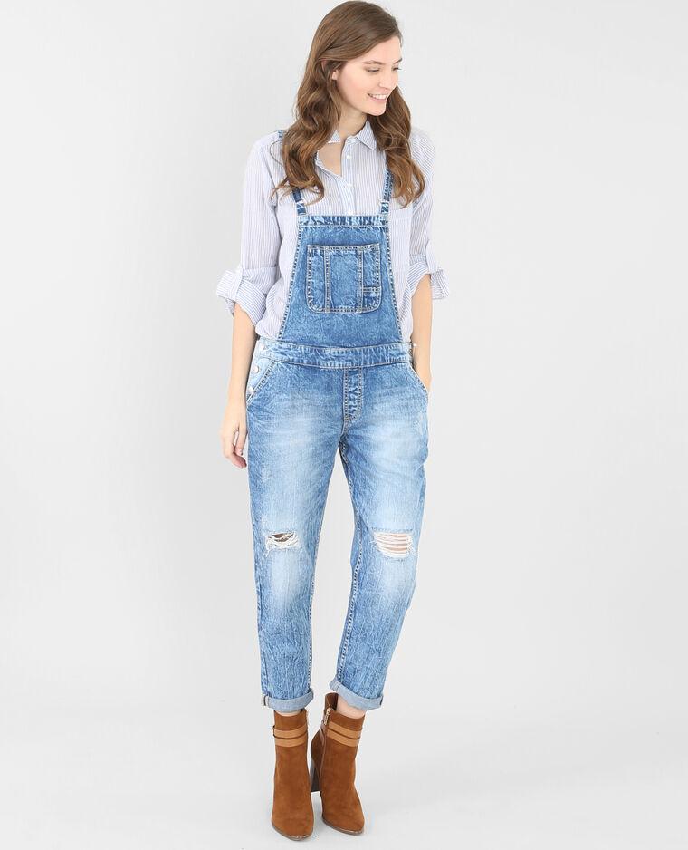 Salopette en jean bleu denim - 174021683A06   Pimkie 0d42b71a6c0