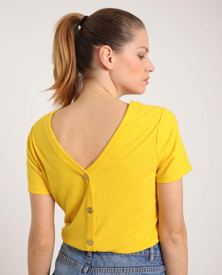 T-shirt boutonné jaune