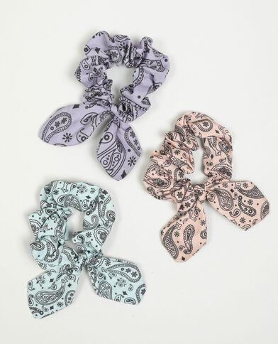 Lot de 3 chouchous imprimés cachemire rose - Pimkie