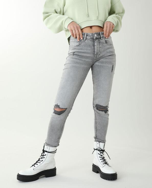 Skinny trashé gris - Pimkie