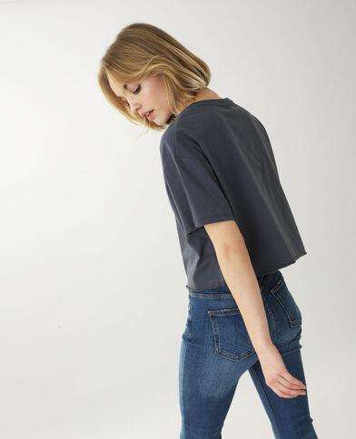 Cropped T-shirt gris foncé - Pimkie