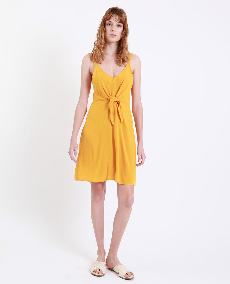 Robe nouée poitrine jaune