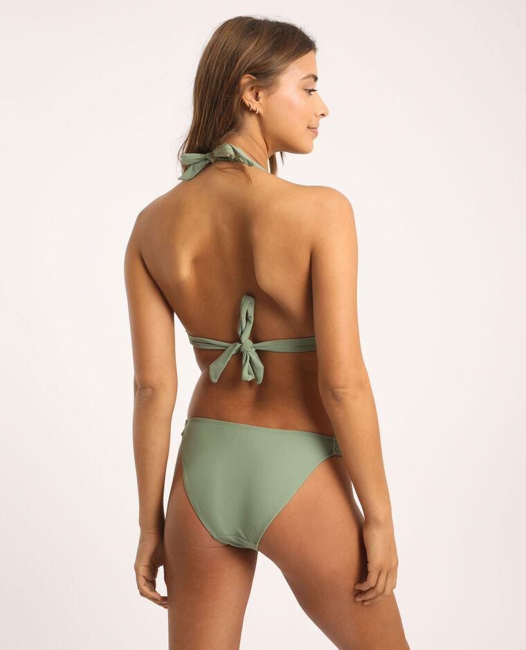 Bas de bikini tressé vert clair - Pimkie