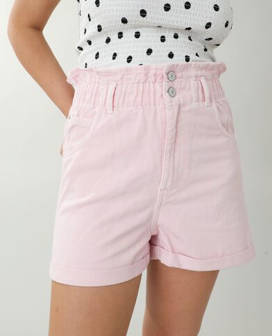 Short en jean high waist rose pastel - Pimkie