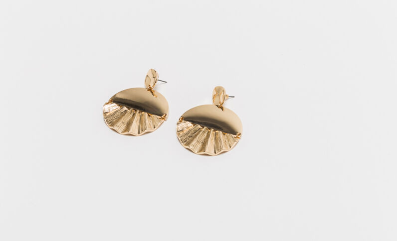 Boucles d'oreilles coquilles doré