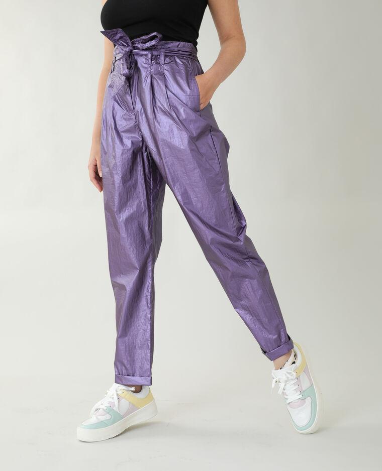 Pantalon irisé lilas - Pimkie