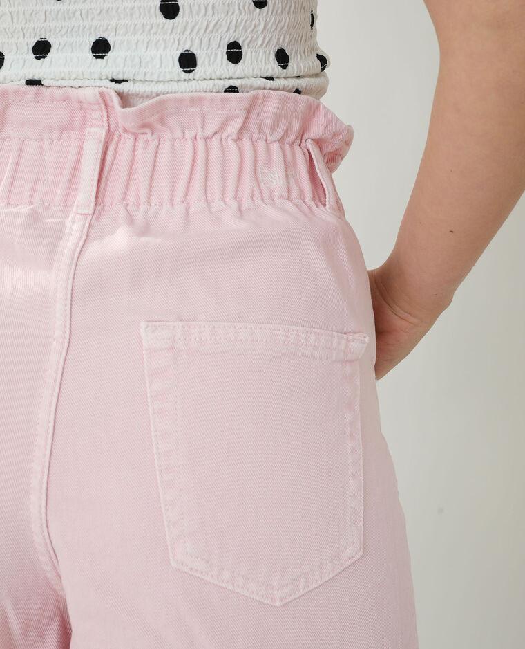Short en jean high waist rose pastel - Pimkie