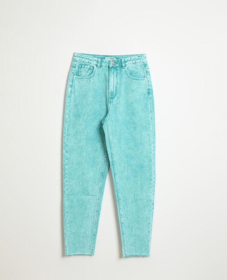 Jean mom high waist vert - Pimkie