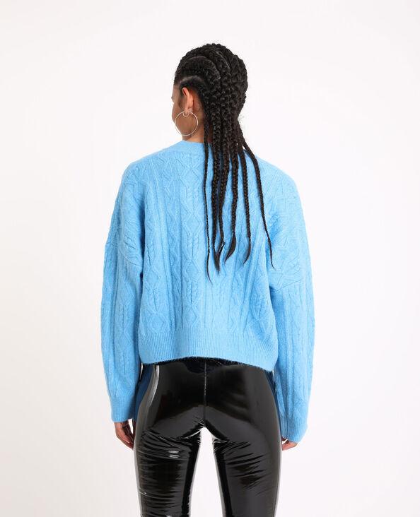 Gilet court bleu