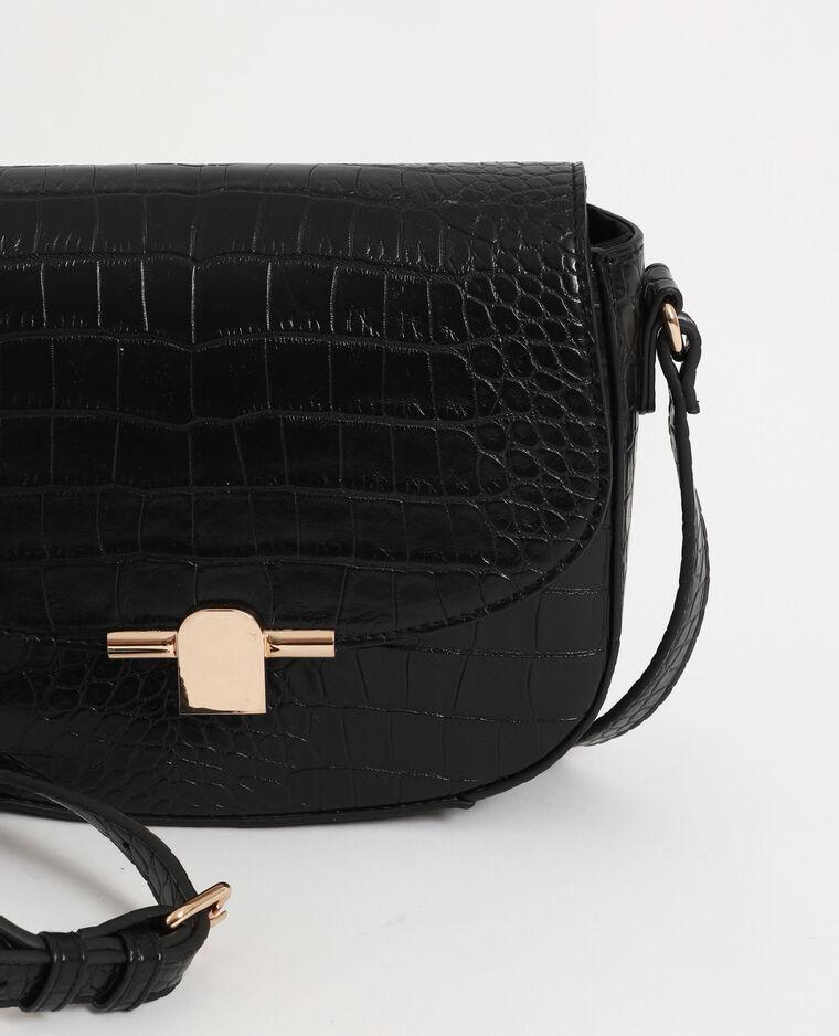 Petit sac croco noir
