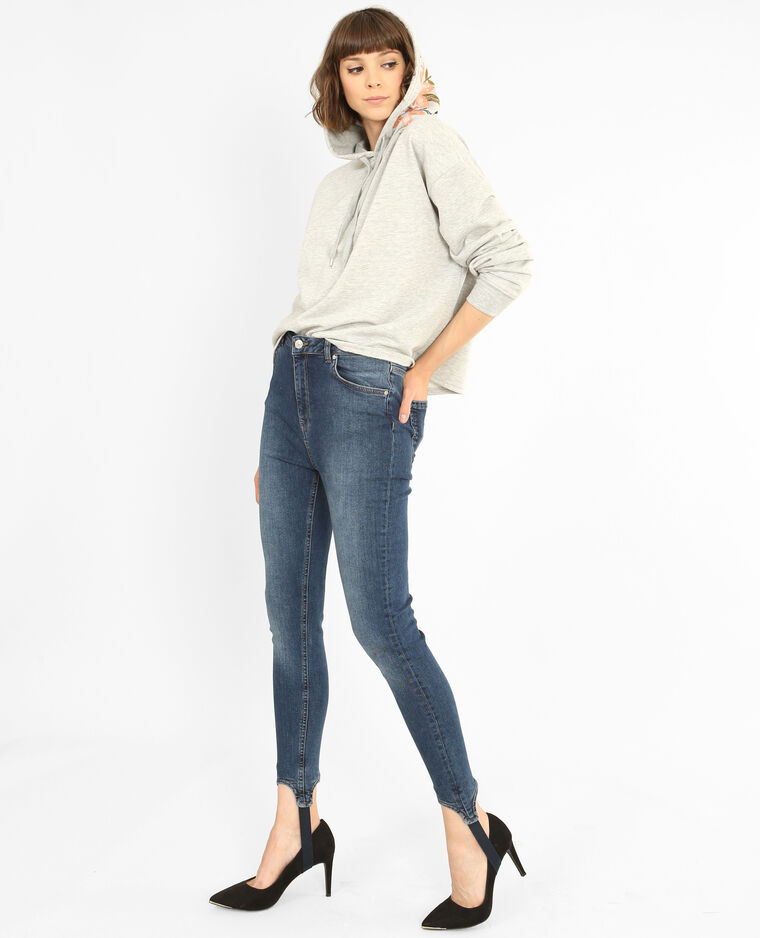 Jean skinny fuseau bleu brut