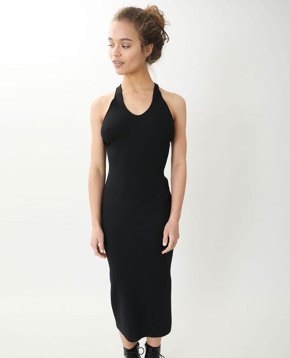 Robe longue moulante noir - Pimkie