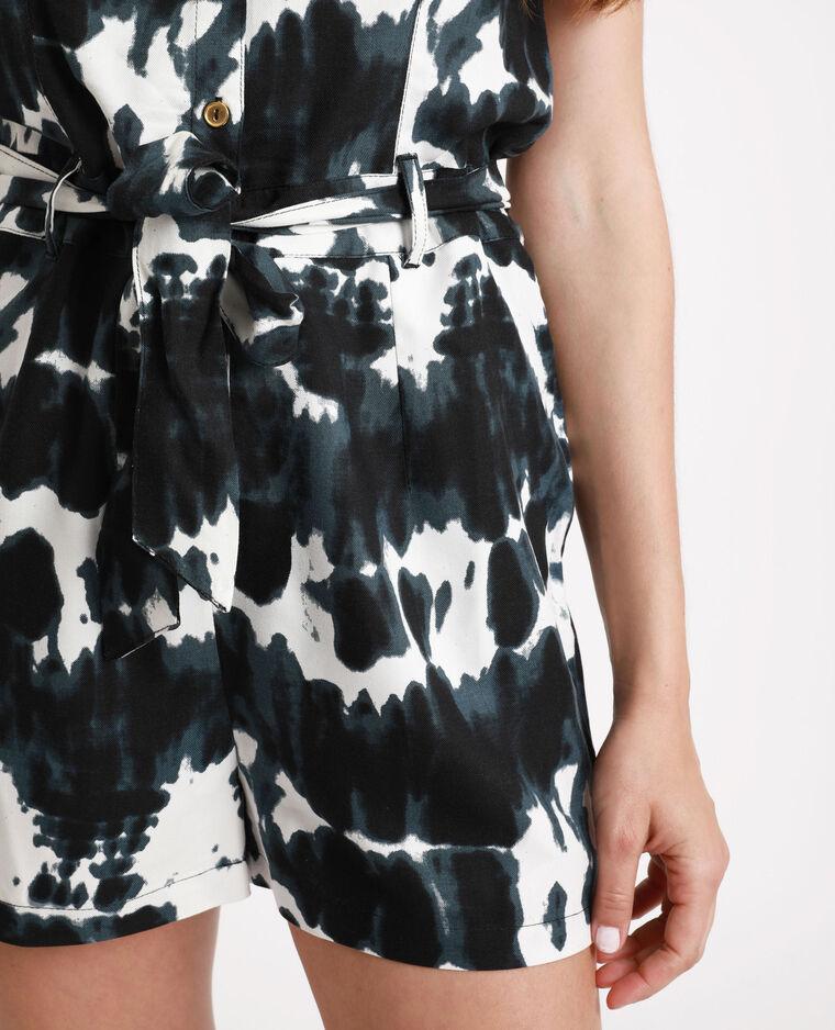 Combishort tie & dye noir