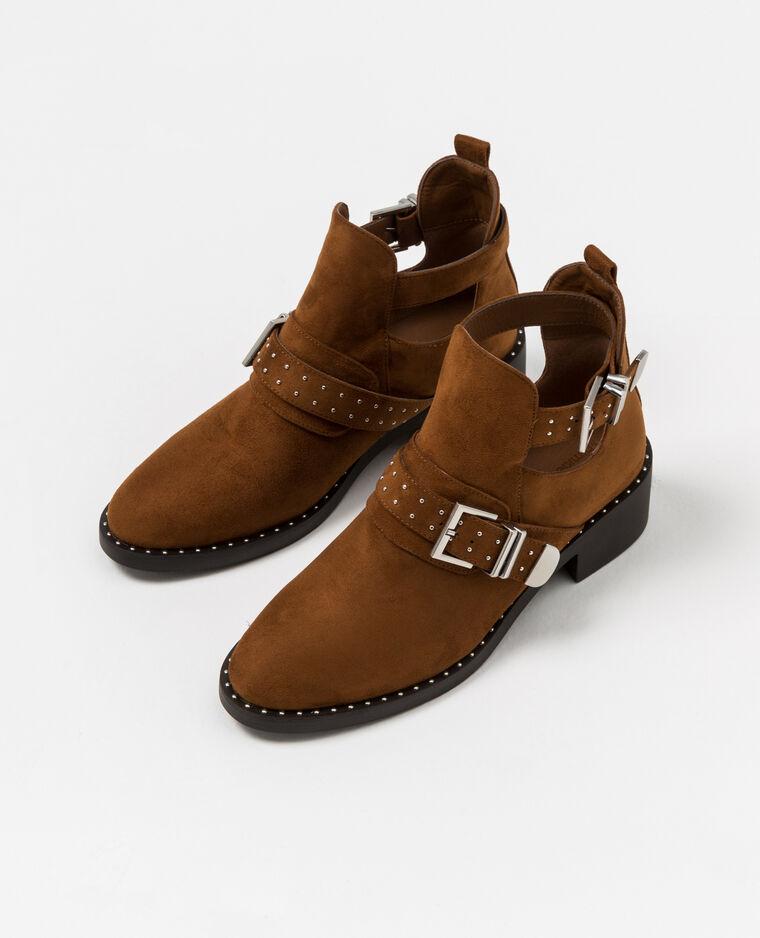 bottines ajourées marron
