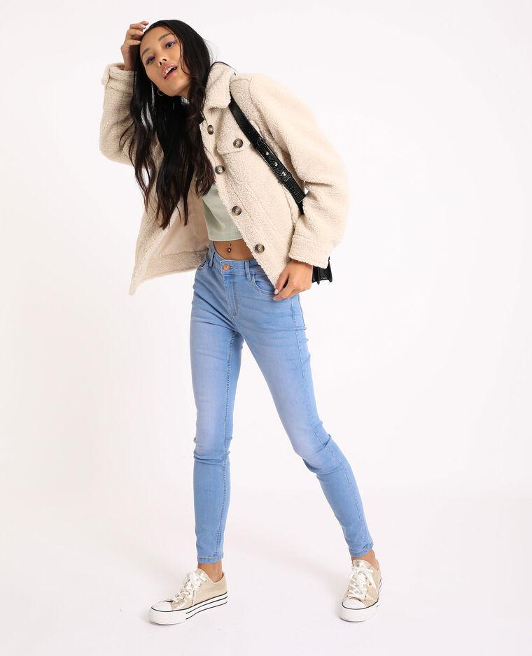 Jean skinny mid waist bleu jean - Pimkie