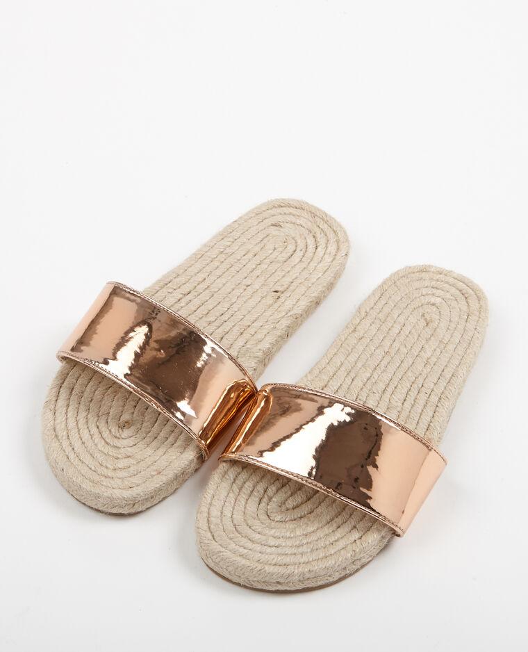 Sandales en corde cuivré