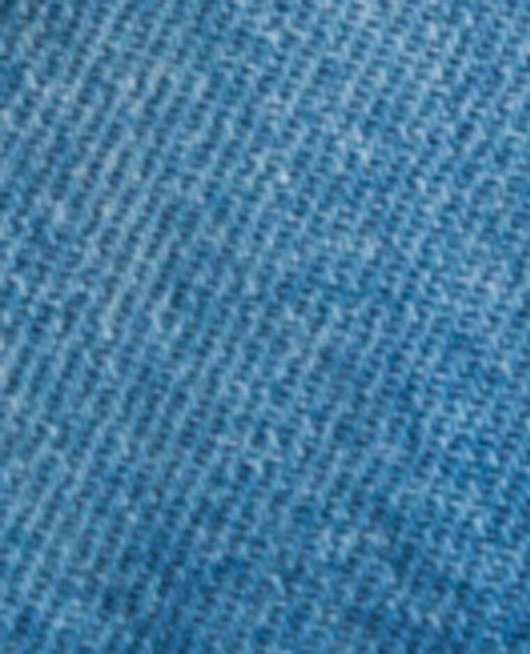 Veste en jean destroy bleu