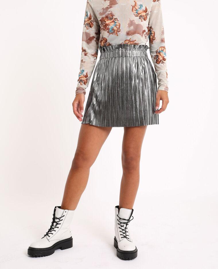 Jupe plissée gris