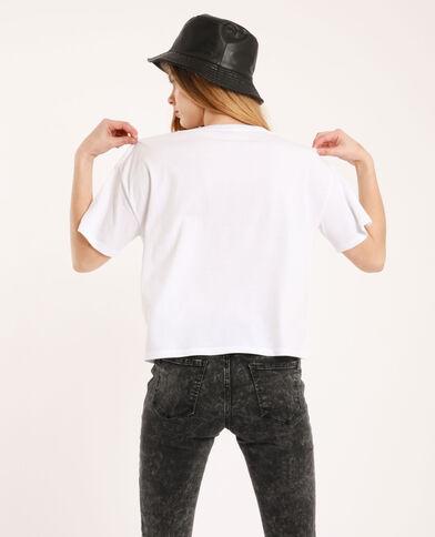 T-shirt cropped écru