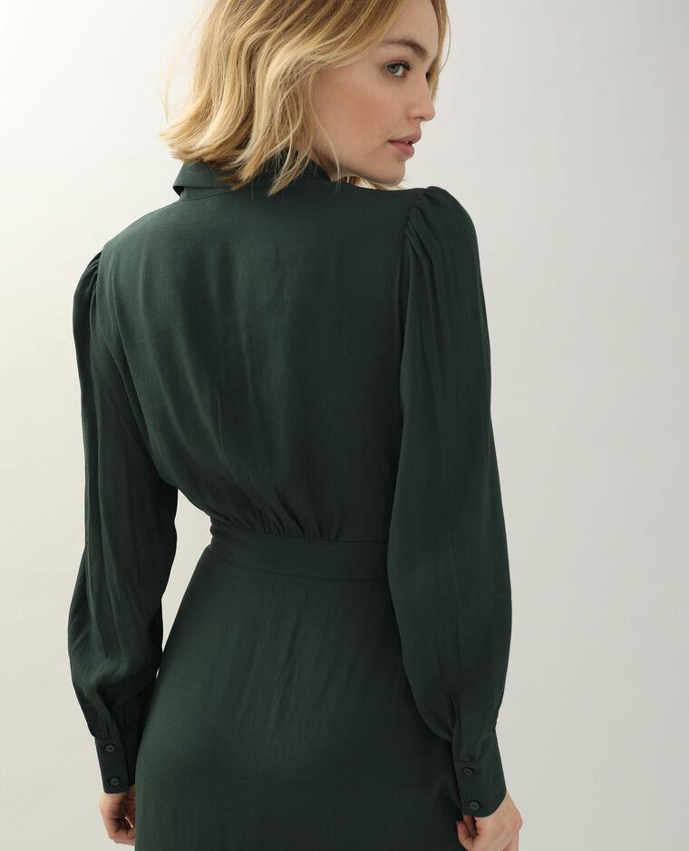 Robe-chemise vert