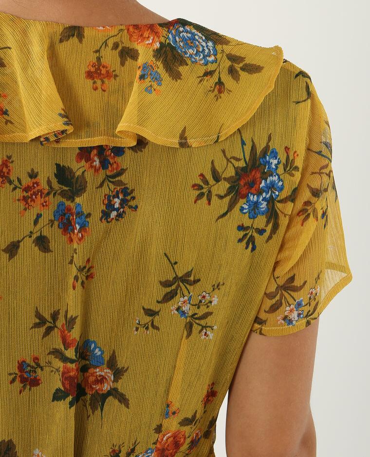 Robe portefeuille jaune