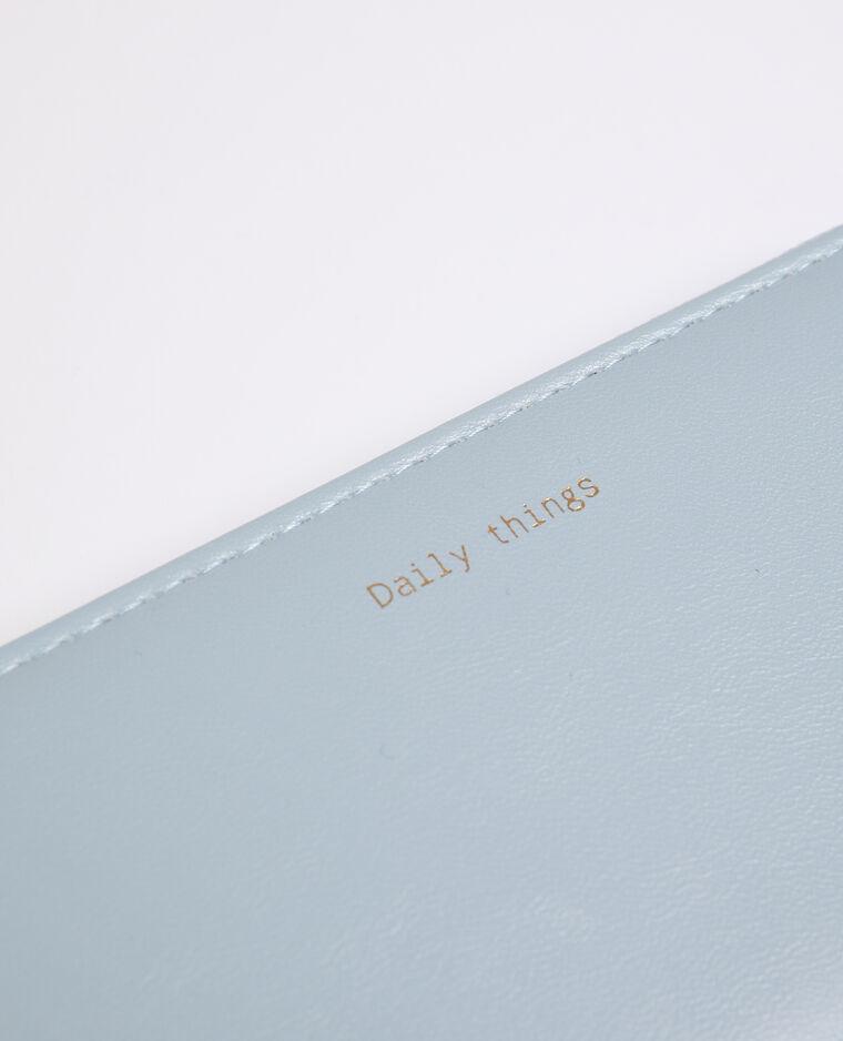 Portefeuille en simili cuir bleu ciel - Pimkie