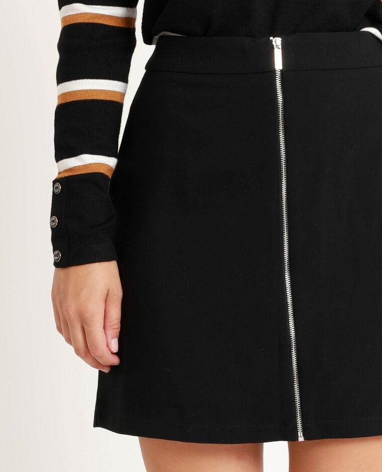 Jupe zippée noir