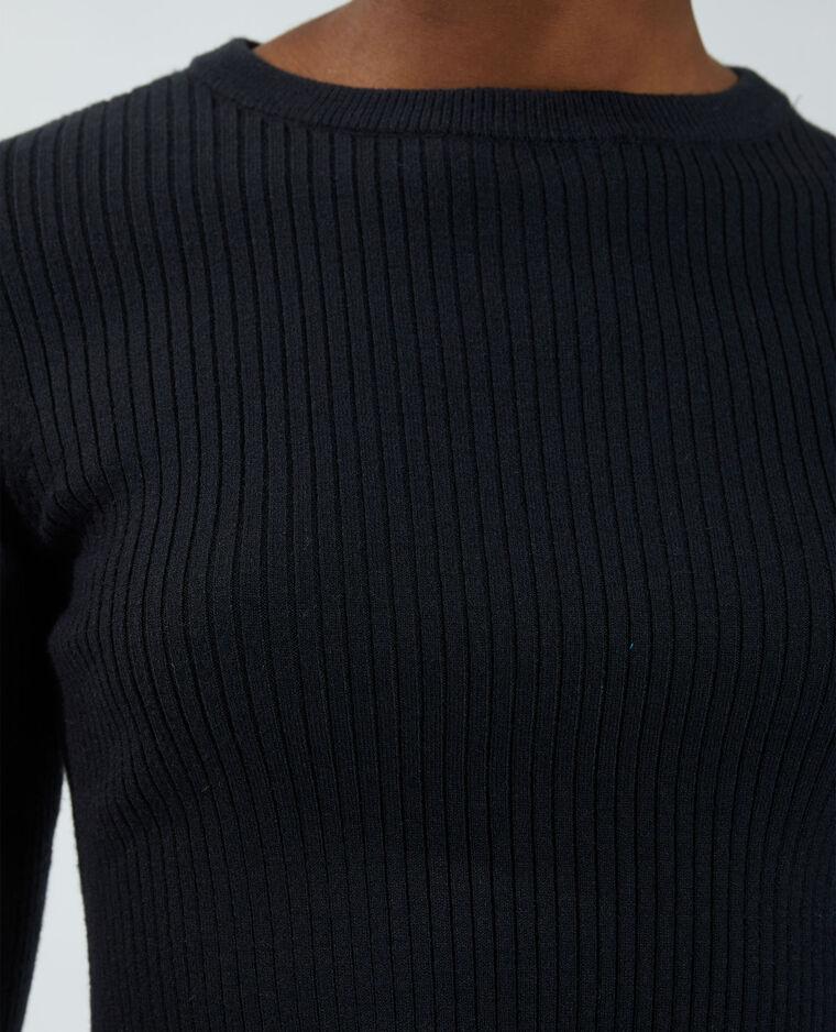 Pull côtelé noir - Pimkie